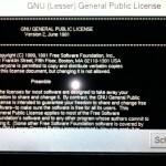 Linux auf dem Kessel, inkl. GPL-Anzeige. Vorbildlich.